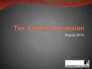 Tier 4 extension session - International Student Office