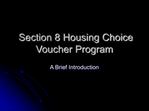 The Section 8 Housing Choice Voucher Program