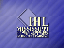 2+2 Agreement Presentation - Mississippi Board of Trustees of State