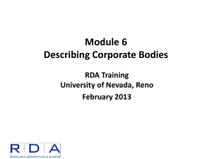 Module 6 - Describing Corporate Bodies - Byu