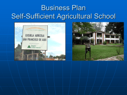 Self-Sufficient Agricultural School Business Plan May2013