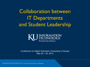 Presentation - Conference on Higher Education Computing in Kansas