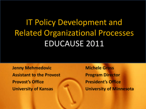 IT Policy Development and Related Organizational