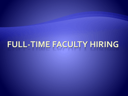 Full-time Faculty Hiring Process