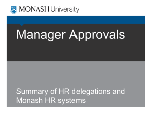 Manager Approvals - Monash University Administration