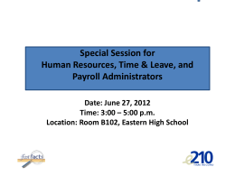 E210 Overtime Report - JHU Human Resources