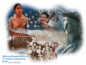 Rights and Responsibilities of US Citizens and Residents BL-BH