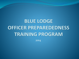 Lodge Budget Training - Educational Resources