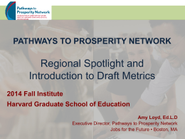 Regional Spotlight, and Measuring Pathways Progress