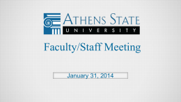 Faculty & Staff Meeting - Athens State University