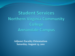 Disability Services - Northern Virginia Community College