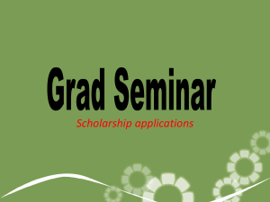 Grad scholarship mini powerpoint 2014