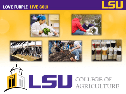 Benefits of the College of Ag (COA)