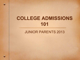 What Junior Parents Need to Know - Ghidotti Early College High