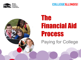 Financial Aid Process ENGLISH