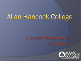 Transfer Basics PowerPoint