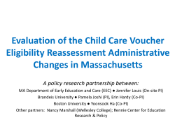 Evaluation of the Child Care Voucher Eligibility Reassessment
