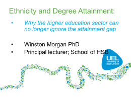 Degree attainment of BAME students for Herts STUDYNET