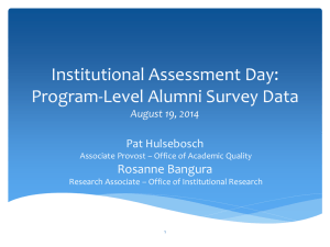 Program-Level Alumni Survey Data