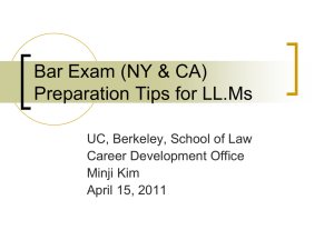 new york uniform bar exam (ube)