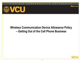 Wireless Device Training - VCU Department of Human Resources