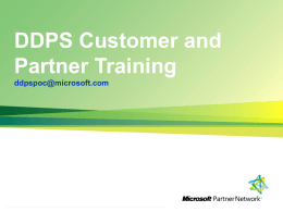 DDPS partner and customer voucher process