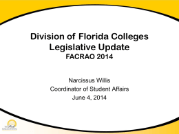 Legislative Update - Palm Beach State College