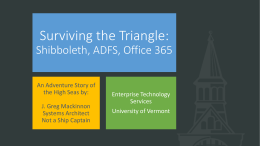 Surviving the Triangle - Windows in Higher Education