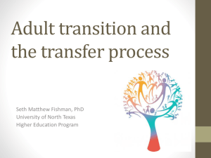 Adult transition and the transfer process