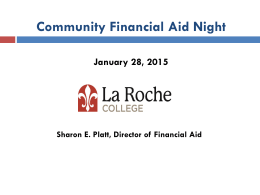 Community Financial Aid Night PowerPoint