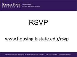 RSVP Informational Session - Housing and Dining Services