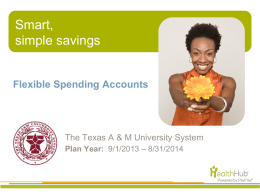 Plan Year - The Texas A&M University System