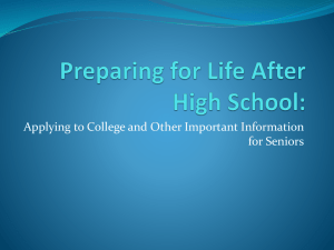 Senior PowerPoint Presentation 8/19/14