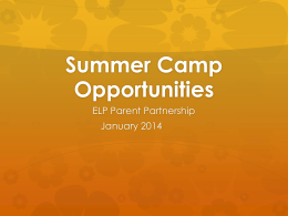 Summer Programs PowerPoint - West Des Moines Community