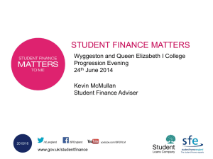 Finance Pkg No Gra - Wyggeston & Queen Elizabeth I College