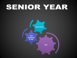 IMPORTANT Senior Information