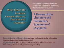 What Impact Do Academic Libraries Have on Teaching - Lib