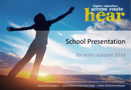 HEAR School Presentation 2014