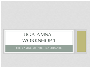 here! - UGA American Medical Student Association
