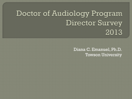 Doctor of Audiology Program Director Survey