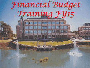 FY 2015 Budget Trainings - Texas A&M University