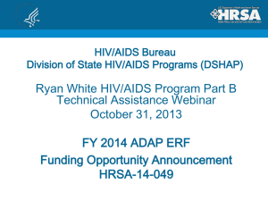 FY 2014 ADAP ERF Funding Opportunity