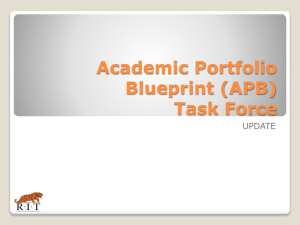 Academic Portfolio Blueprint (APB) - Rochester Institute of Technology