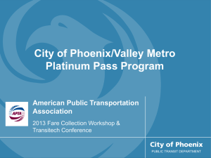 Platinum Pass Program - American Public Transportation Association