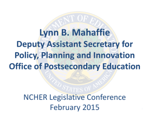 US Department of Education, Lynn Mahaffie