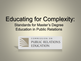 of report - Commission on Public Relations Education