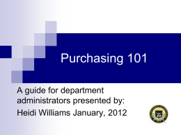 Requisitions & POs - Managing the process
