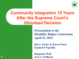 Olmstead Litigation 4-23-14