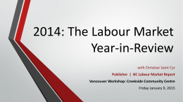 2014: The Labour Market Year-in-Review