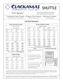 "SHUTTLE ""CCC Xpress"" - FlashAlert Newswire"